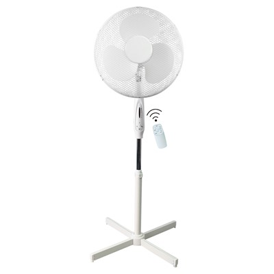 "16"" 45W 3 SPD PED WHI FAN REMOTE CONTROL"