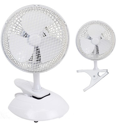 "6"" 15W 2 SPEED DUAL CLIP & DESK FAN"