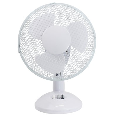 "9"" 22W 2 SPEED WHITE TABLE FAN"